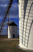Frame fitness texture 01 windmills tembleque Stock Photos