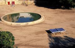 Fitness pool ping pong table parc del miracle 11 Stock Photos