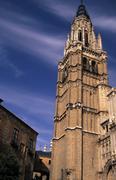 cathedral tower toledo castilla mancha spain 19 - stock photo