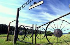 Molson cemetery okanogan highlands wa arcadian Stock Photos