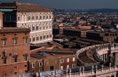 Papal apartments museum peters square vatican 20 Stock Photos
