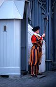 swiss guard vatican city rome italy aegis armor - stock photo