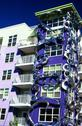 Stock Photo of artsy apt building fremont seattle wa washington