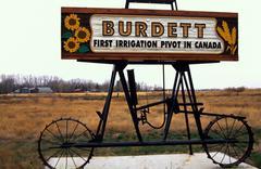 First irrigation pivot canada burdett mayday sos Stock Photos
