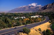 Stock Photo of wasatch range ogden ut utah arcadian agrarian