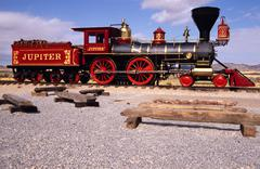 golden spike national hist site promontory point - stock photo