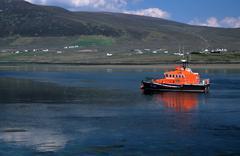 rescue boat achill sound curraun peninsula mayo - stock photo