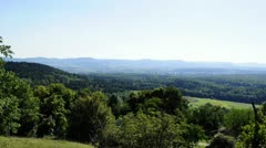 panoramic view in the south of Baden-Wuerttemberg, Germany - stock footage