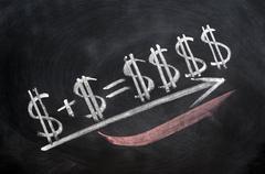 Dollar sign formula Stock Photos