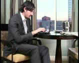 Businessman in hotel room V1 - PAL Stock Footage