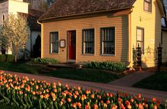 Tulips historical village pella ia address casa Stock Photos