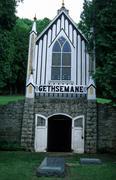Gethsemane cemetery lansing ia statue monument Stock Photos