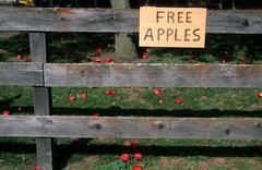 free apples amana colonies south ia mayday sos - stock photo