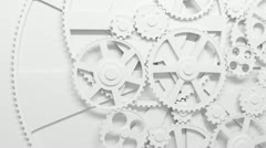 Gears rotating in looped animation. HD 1080. - stock footage