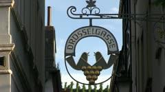 Germany - Ruedesheim - Drosselgasse Stock Footage