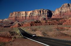 Alternate highway vermillion cliffs cave az view Stock Photos