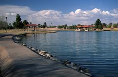 mckellips lake park scottsdale az ample big - stock photo