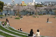 japan honshu kansai osaka kita ward amenity park - stock photo