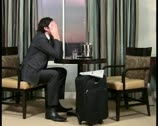 Businessman in hotel room V5 - PAL Stock Footage