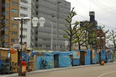 House home japan honshu kansai osaka tennoji Stock Photos