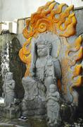 Japan honshu kansai osaka kita ward umeda shrine Stock Photos
