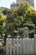 japan honshu kansai osaka kita ward umeda shrine - stock photo