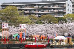 japan honshu kansai osaka kita ward okawa river - stock photo