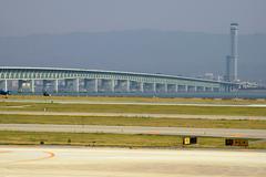 fitness japan honshu kansai osaka bay airport - stock photo