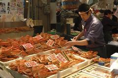 Japan honshu ishikawa prefecture kanazawa omicho Stock Photos