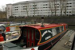 england london lisson grove regents canal boats - stock photo