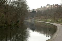 england london regents canal park outer cirlce - stock photo