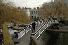 fitness england london camden regents canal - stock photo