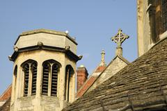 england cambridge bridge street holy sepulchre - stock photo