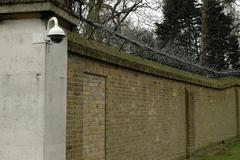 england london buckingham palace grounds camera - stock photo
