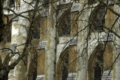 England london abbey facade component depict Stock Photos