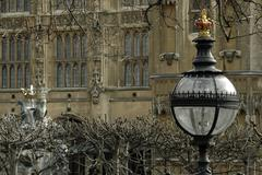 england london houses parliament new palace yard - stock photo
