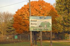 Iowa mills glenwood site american indian earth Stock Photos