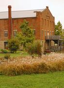 Iowa van buren village bonaparte factory actual Stock Photos