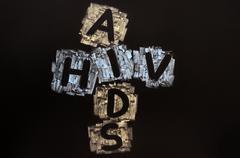 Crossword of hiv aids Stock Photos