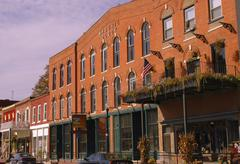 Stock Photo of iowa clayton mcgregor main street historic town