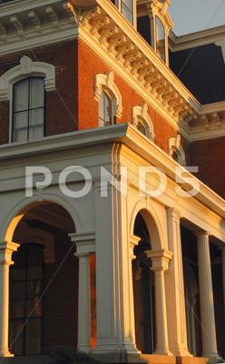 Stock photo of house iowa council bluffs historic general dodge
