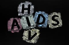 Crossword of hiv and aids Stock Photos