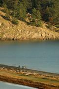 washington san juan islands lopez island spencer - stock photo