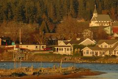 Washington san juan islands lopez island bay Stock Photos