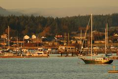 Stock Photo of washington san juan islands lopez island bay