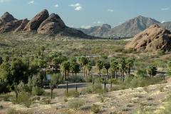 Arizona maricopa phoenix papago park ramadas Stock Photos