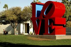 Love art arizona maricopa scottsdale civic mall Stock Photos