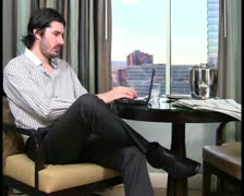 Man using laptop V7 - PAL Stock Footage