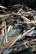 house washington king seattle remodel debris - stock photo