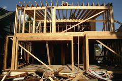 house washington king seattle remodel debris - stock photo